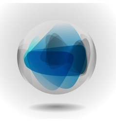 Sphere glass ball vector