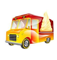 Ice cream van vector