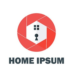 Red home logo vector