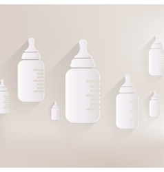 Baby pacifier bottle icon vector