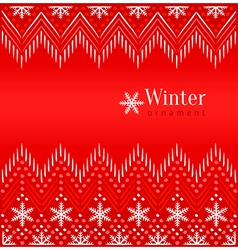 Red vintage winter ethnic ornamental background vector