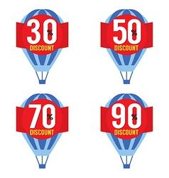 Hot air balloon sale vector