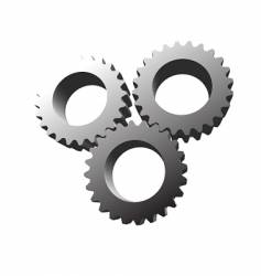 Machine gears vector