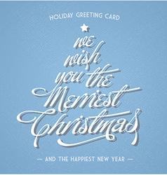 Retro vintage christmas greeting card vector