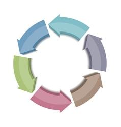 Circle arrows icon vector