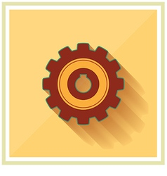 Technology mechanical gear flat icon vector