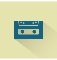 Retro audio cassette icon vector