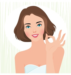 Concept fresh beautiful girl body care vector
