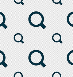 Magnifier glass icon sign seamless pattern with vector
