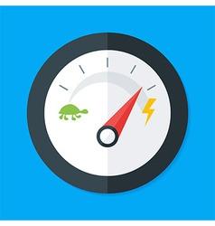 Speedometer flat stylized vector
