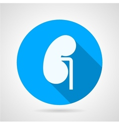 Round icon for nephrology vector