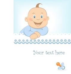 Baby boy arrival announcement vector