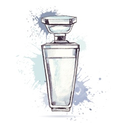 Beautiful perfume bottle vector