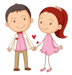 Cute couple dating vector