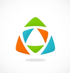 Triangle color abstract logo vector