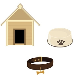 Dog equipment icon set vector