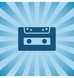 Retro poster audio cassette vector