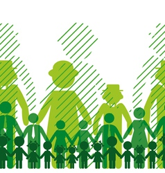 Ecology icon family background vector