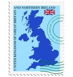 Mail to-from united kingdom vector