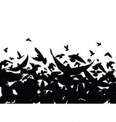 Pigeon flight vector