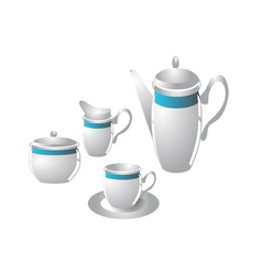 Coffee service vector