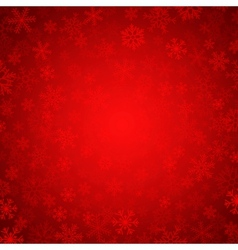 Red snowflakes vector