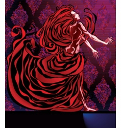 Woman in red vector