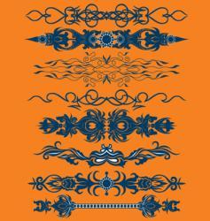 Floral pattern bands vector