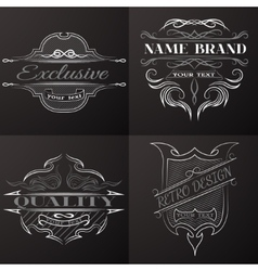 Set of vintage emblem with space for text vector