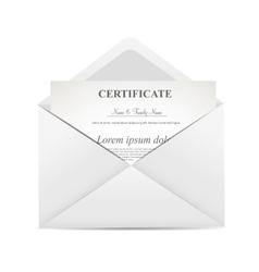 Certificate in envelope vector