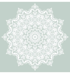 Damask pattern orient background vector