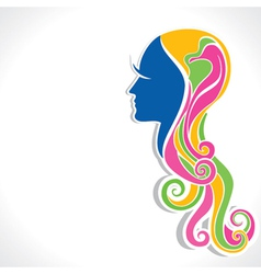 Abstract beautiful girl vector