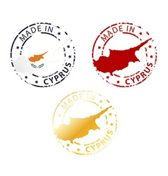 Made in cyprus stamp vector