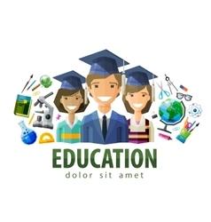 Education schooling logo design template vector