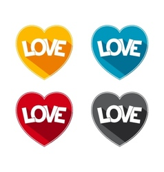 Flat icon love vector