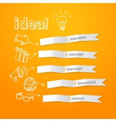 Inspiration idea concept modern design template vector