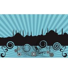 Retro mosque silhouette vector