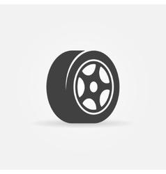 Tyre black symbol or icon vector