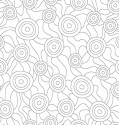 Monochrome fungus seamless pattern vector