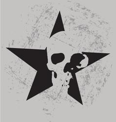 Star skull vector