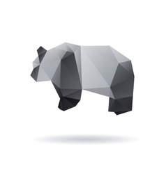 Panda isolated on a white backgrounds vector