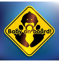 Baby on board sticker vector