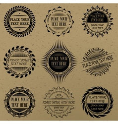 Set of vintage signs and labels vector
