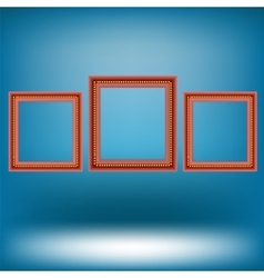 Set of red frames vector