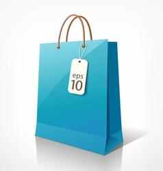 Shopping blue bag vector