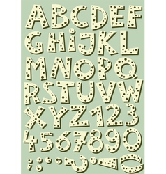 Dotted beige font vector