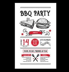 Barbecue party invitation bbq brochure menu design vector