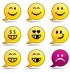 Smiley comics vector