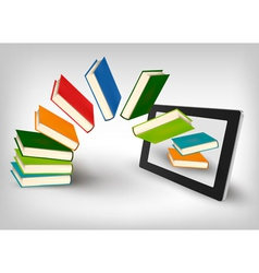 Library in e book vector