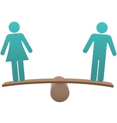 Equal male female sex equality balance vector
